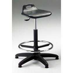 Sgabello girevole con sedile in poliuretano espanso