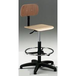 Sgabello girevole con sedile e schienale multistrato di FAGGIO